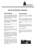 Tips for the Physically Challenged